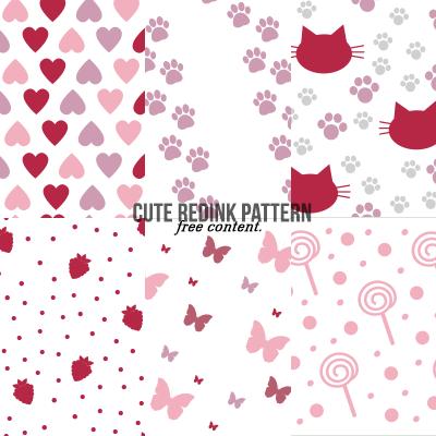 可爱爱心、猫脚印、狗脚印、草莓、蝴蝶、棒棒糖图形PS装饰背景笔刷(PNG图片格式)