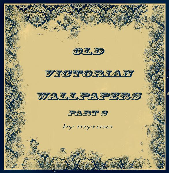 维多利亚时代壁纸纹理背景图案PS笔刷素材下载