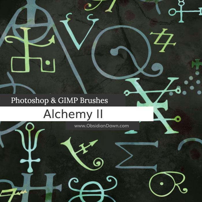 神秘宗教符号、炼金术士文字等PS外星文明科技笔刷