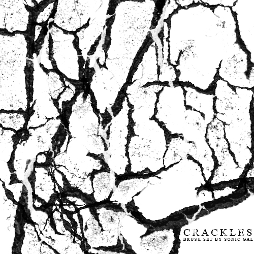 干涸的土地纹理、裂纹图案PS笔刷下载