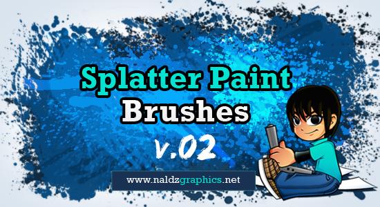 涂鸦飞溅油漆、染料、颜料效果PS笔刷下载