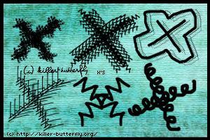 手绘涂鸦式叉叉图案PS笔刷下载