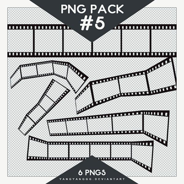 老式电影胶片纹理、相机胶卷背景PS装饰笔刷(PNG图片格式)
