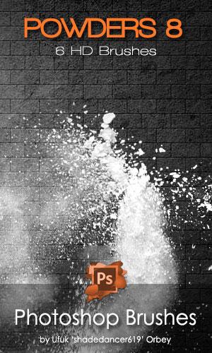 粉末阴影纹理、散开的粉末、挥洒粉末效果PS笔刷下载