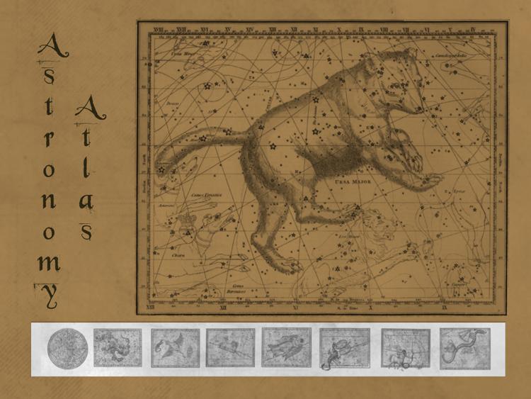 天文星座图纸装饰PS笔刷下载