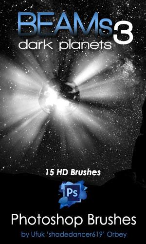 阴影光束、光线照射光束PS笔刷素材下载