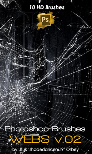 10种高清蜘蛛丝网、蛛网、丝网图案PS笔刷素材下载