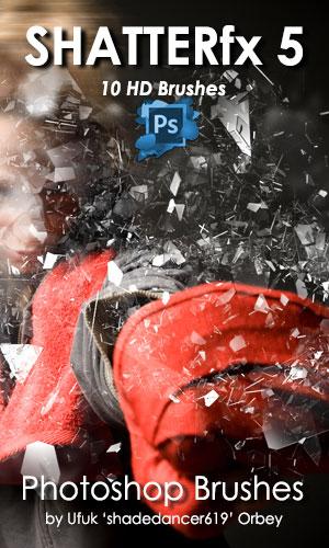 碎片化、玻璃碎片纹理PS笔刷