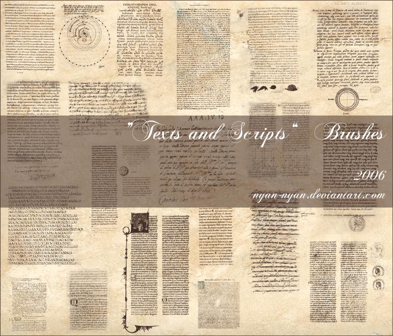 古旧的欧美文本背景装饰PS笔刷下载