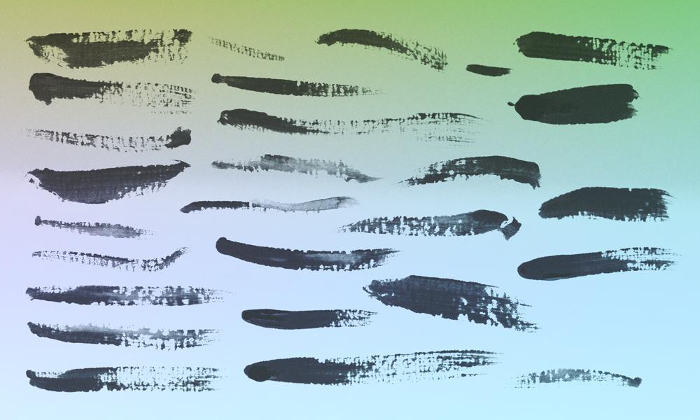 25种油漆纹理划痕效果PS笔刷素材