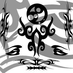 图腾印记花纹Photoshop刺青纹身痕迹自定义形状素材 .csh 下载