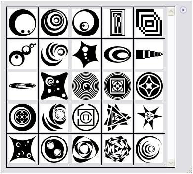 25种自合组合图形Photoshop自定义形状素材 .csh 下载