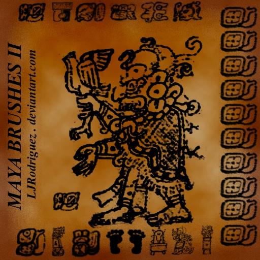 神秘部落痕迹、玛雅宗教印记PS笔刷素材