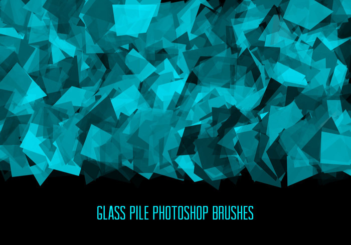 玻璃碎片、碎片化纹理素材PS笔刷免费下载