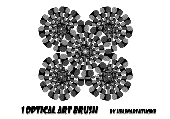 10种万花筒式对称图案PS笔刷下载