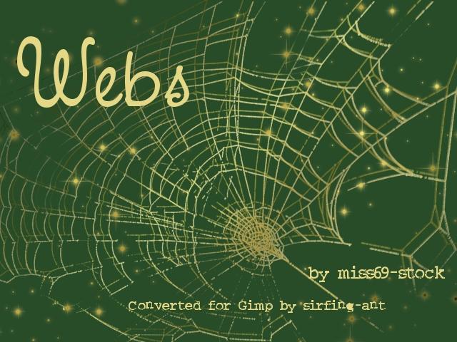 蜘蛛网图案素材GBR格式笔刷下载(GIMP笔刷素材)