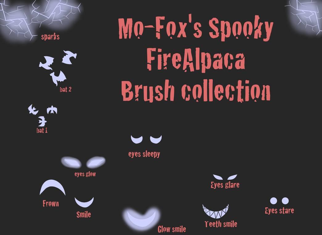 可爱万圣节邪恶眼神、蝙蝠、怪异表情等PS笔刷素材(PNG图片素材)