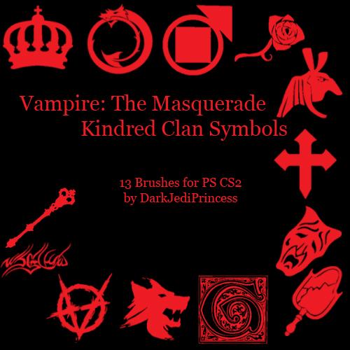中东特色皇冠、玫瑰、权杖、十字、鬼脸、镜子、浪头等PS笔刷下载