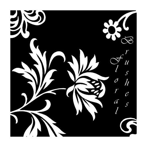 精美的植物鲜花花纹、印花印迹PS笔刷下载