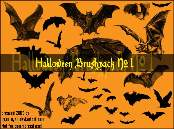 万圣节蝙蝠、魔鬼蝙蝠图案PS蝙蝠吸血鬼