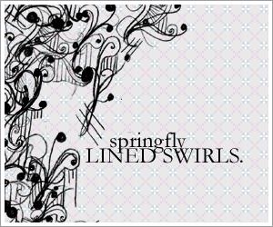 手绘音符式印花、花纹图案PS笔刷素材
