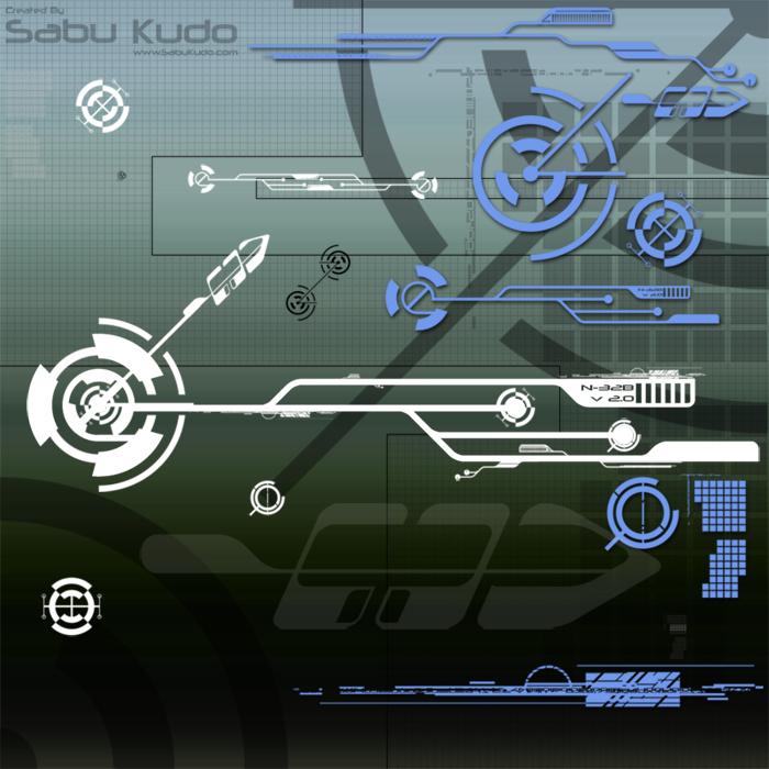 星际文明科技元素PS装饰笔刷