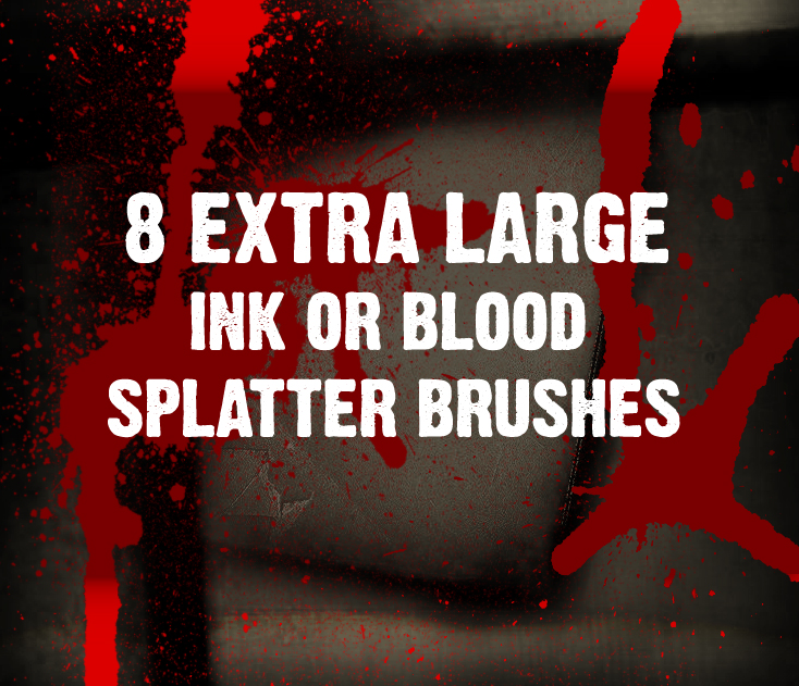 8种高清油漆、喷漆效果纹理PS笔刷下载