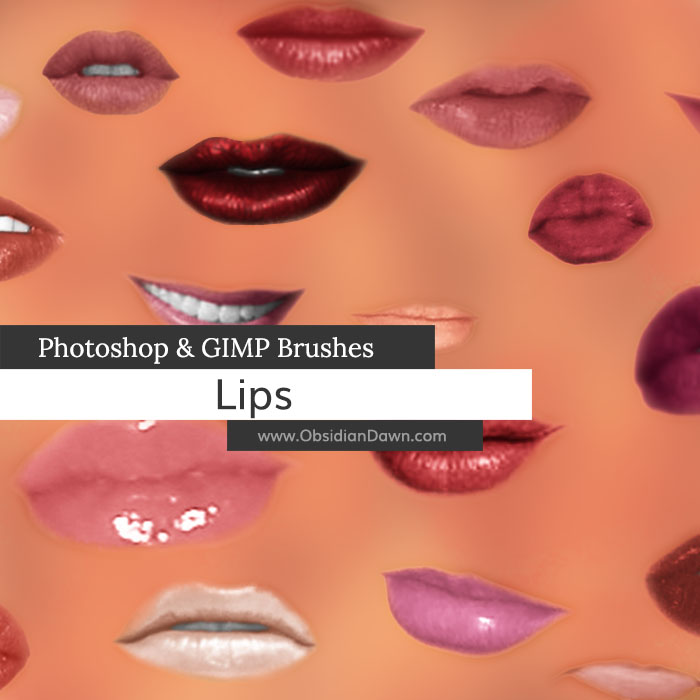 性感的女性小红唇、嘴唇、嘴巴Photoshop笔刷素材