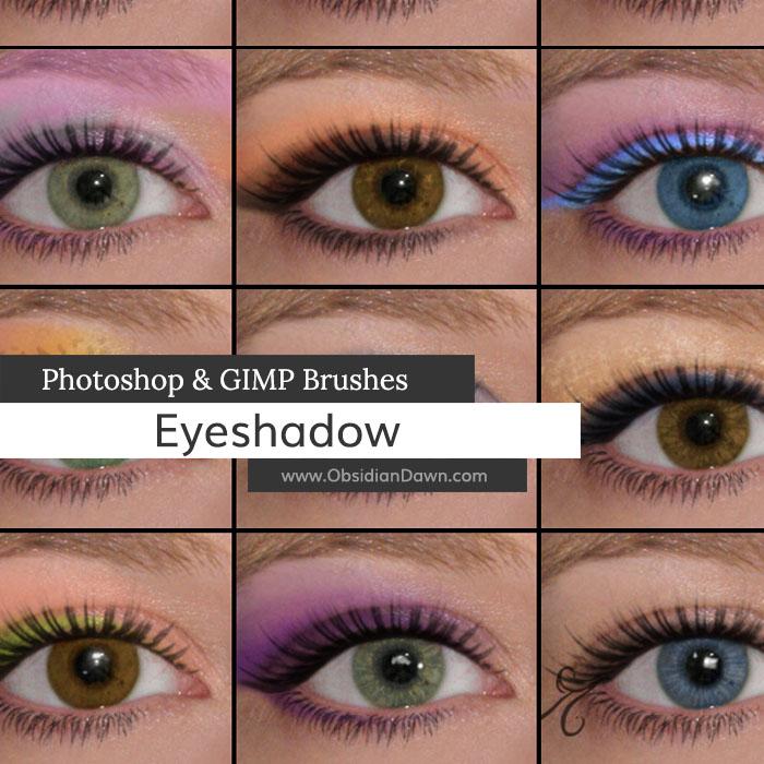 非主流眼影、眼线效果PS化妆笔刷