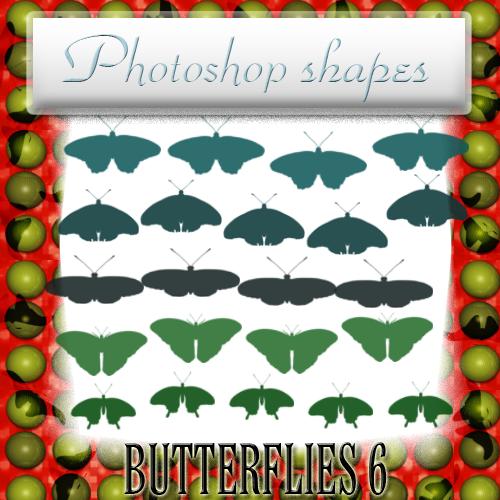 蝴蝶、飞蛾图像PS笔刷下载(csh格式,自定义形状)