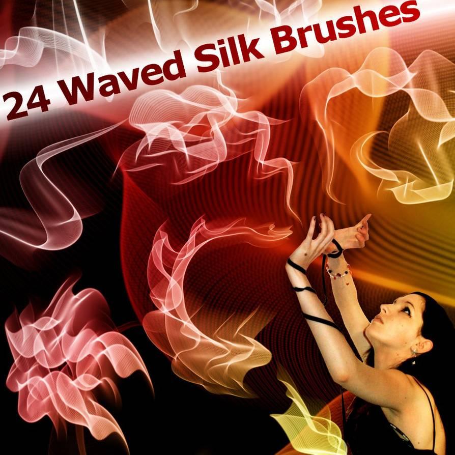 24种炫动变幻曲线图案Photoshop笔刷素材