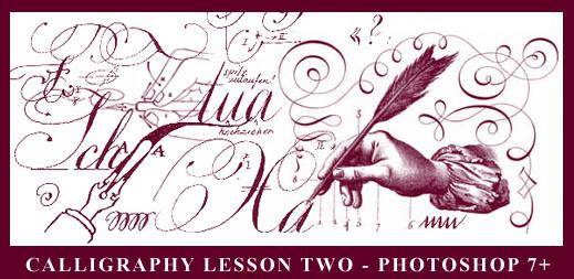 优雅的线条涂鸦文字Photoshop笔刷下载