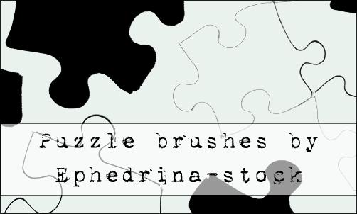 拼图模块、拼图图形Photoshop笔刷下载