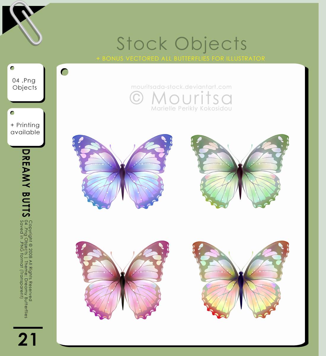 发光蝴蝶素材