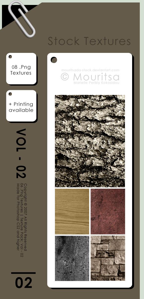 树皮纹理、木板纹理、水泥表面纹理、红土纹理PS笔刷(PNG文件素材)