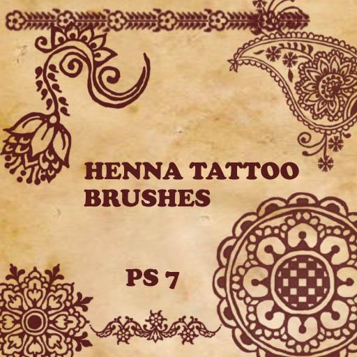 印度传统艺术花纹Photoshop印花图案笔刷