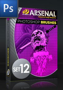 嘴唇、骷髅头、脑浆图形、大肠形状、横幅图案、僵尸、丧尸头颅PS笔刷素材下载