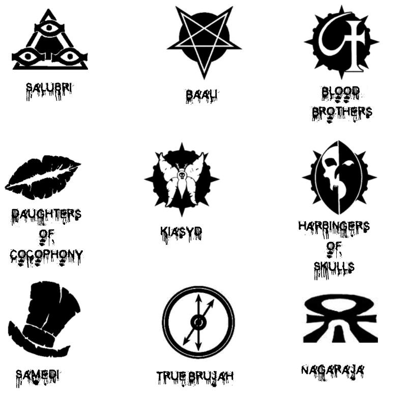 恐怖血腥符号图案PS笔刷素材
