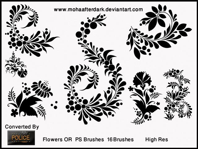 典雅的植物叶子花纹笔刷Photoshop鲜花花纹笔刷