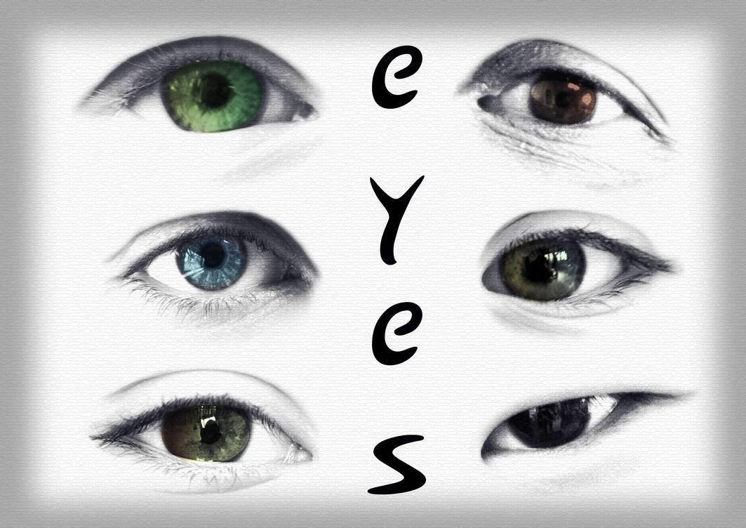 欧美人眼睛素材图案PS笔刷免费下载
