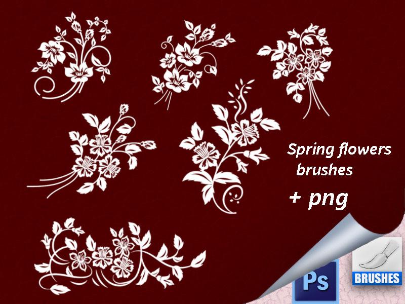 漂亮的艺术植物印花图案、精美植物花纹系列PS笔刷下载