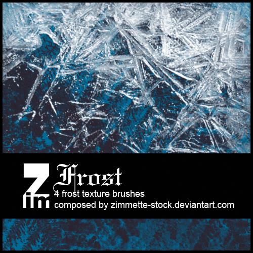 霜冻、冰晶效果纹理PS笔刷下载
