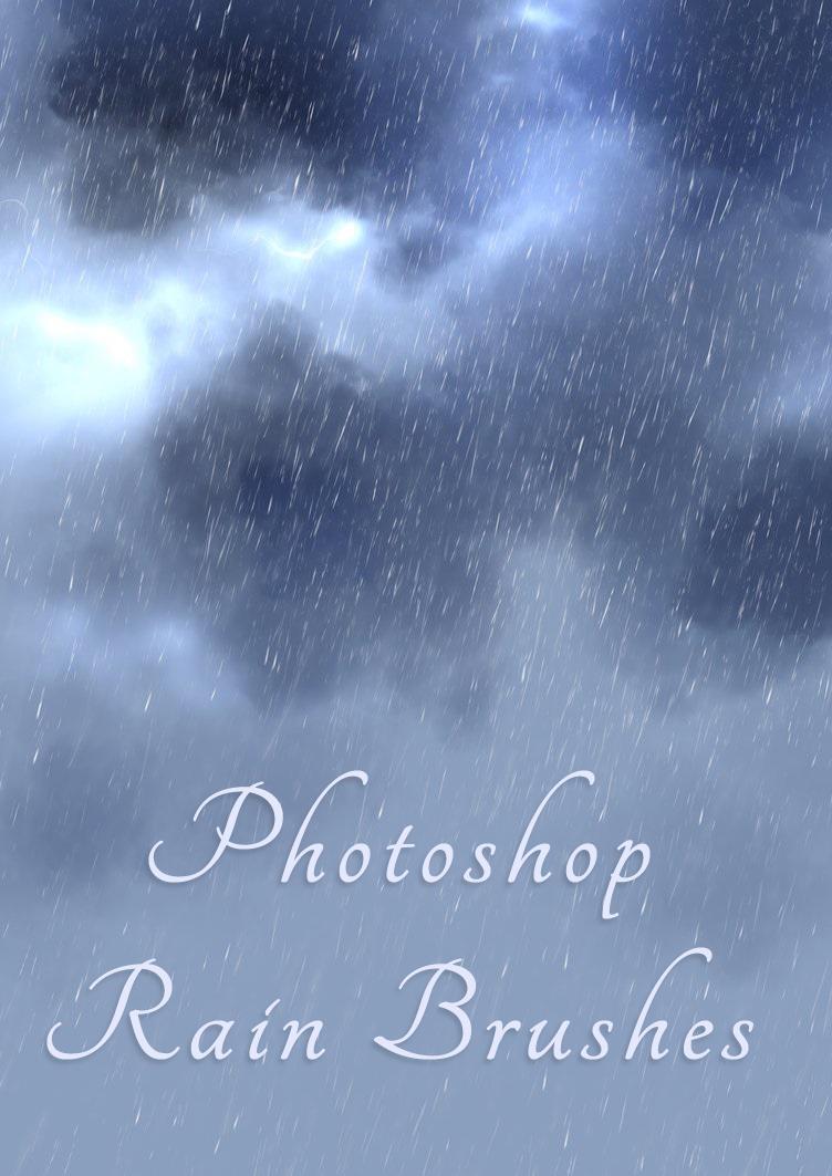 仿真天空中下雨场景Photoshop雨天背景笔刷
