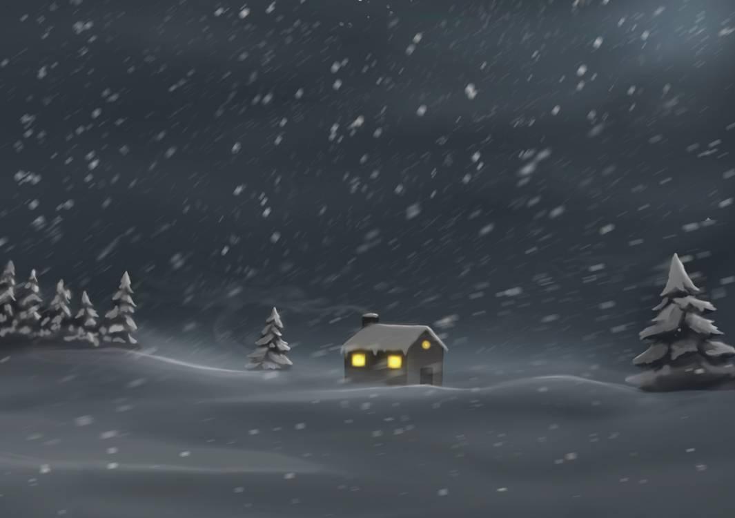 暴风雪、雪天、下雪背景PS笔刷下载