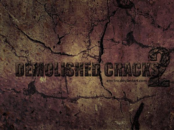 墙壁纹理、岩石裂缝材质PS笔刷下载