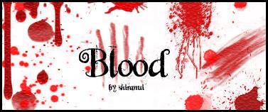 恐怖血迹、流血、伤口滴溅痕迹PS笔刷下载