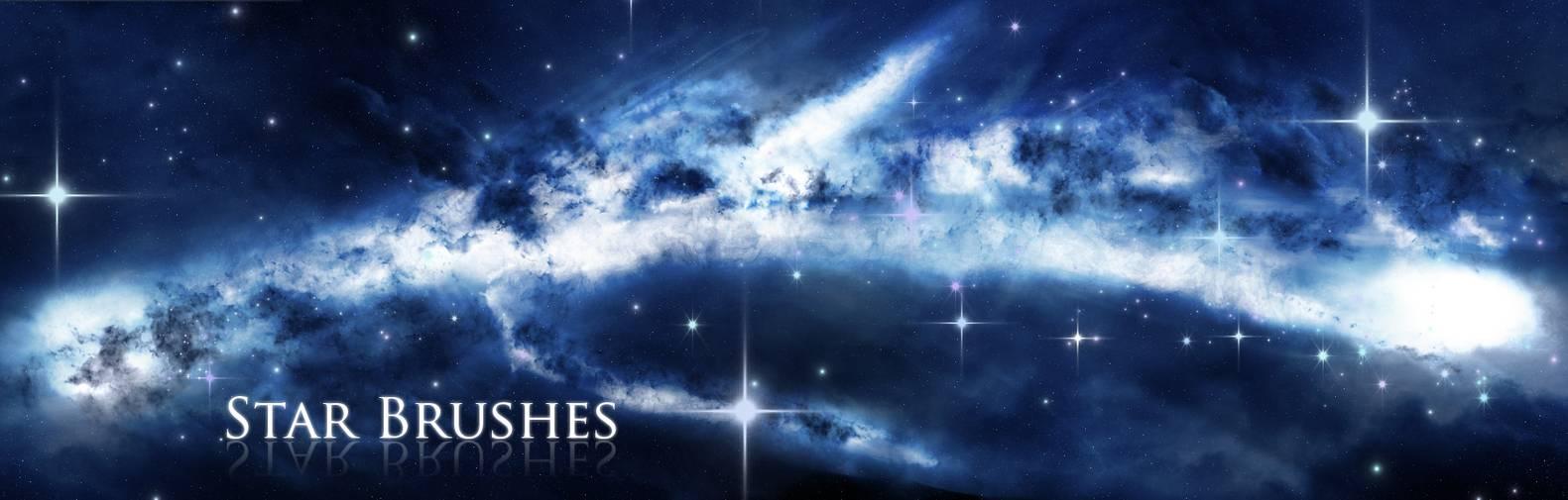 梦幻神秘的星空、浩瀚广袤的宇宙深空PS宇宙背景笔刷