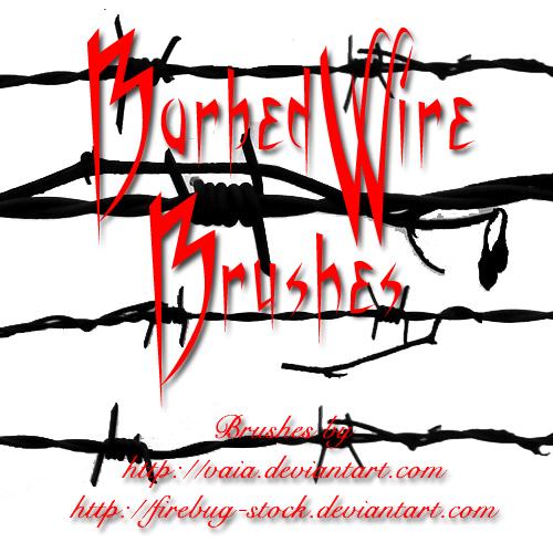 带刺的钢丝、栅栏、铁丝PS笔刷下载