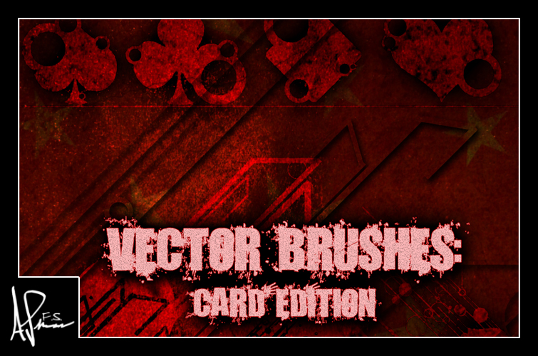非主流梅花、方块、红桃、爱心图案PS装扮背景笔刷
