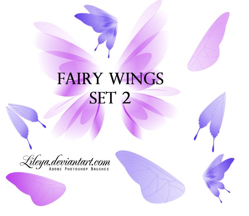 精灵仙子蝴蝶翅膀图案PS笔刷下载
